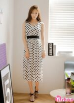 Váy đầm chấm bi đẹp hè 2021 – 2022 cho nàng dịu dàng dạo phố ngày nắng