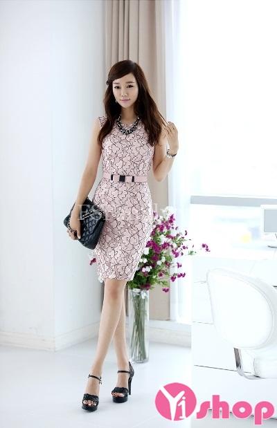 Váy đầm công sở đẹp kiểu Hàn Quốc nữ tính điệu đà nhất hè 2021 - 2022