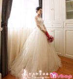 Váy cưới dài tay Hàn Quốc đẹp cho nàng sang trọng hè 2021 – 2022