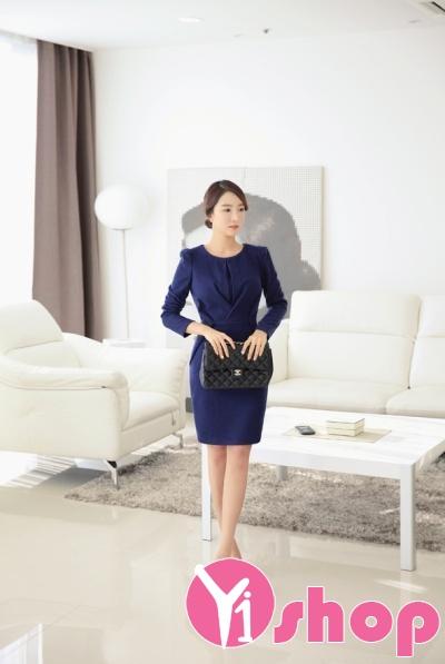Váy đầm dạ Hàn Quốc đẹp hè 2021 - 2022 cho nàng công sở trẻ trung