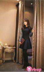 Váy đầm dáng xòe đẹp Hàn Quốc cho bạn gái mảnh mai hè 2021 – 2022