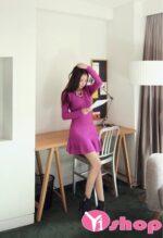 Váy đầm dáng xòe đẹp kiểu Hàn Quốc xinh xắn hè 2021 – 2022
