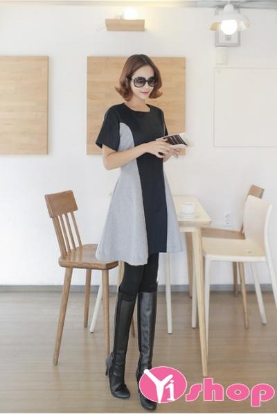 Váy đầm dáng xòe đẹp kiểu Hàn Quốc xinh xắn hè 2021 - 2022