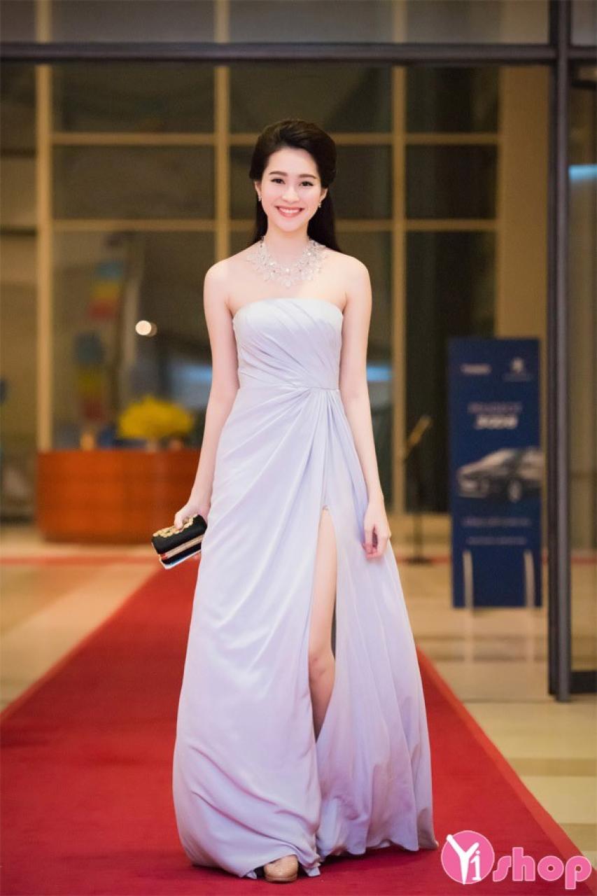 Váy đầm dự tiệc dáng dài đẹp cho nàng sang trọng cuốn hút hè 2021 - 2022