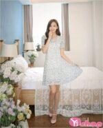 Váy đầm hoa liền thân đẹp hợp phong cách Hàn Quốc hiện nay hè 2021 – 2022