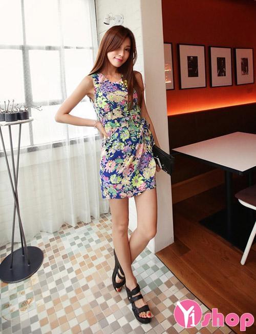 Váy đầm hoa liền thân đẹp xu hướng thời trang Hàn Quốc hè 2021 - 2022