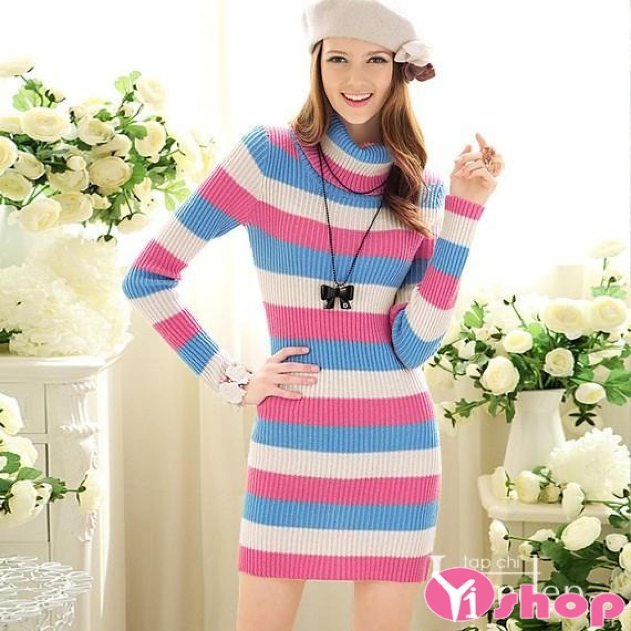 Váy đầm len dáng dài đẹp phong cách sành điệu dạo phố hè 2021 - 2022
