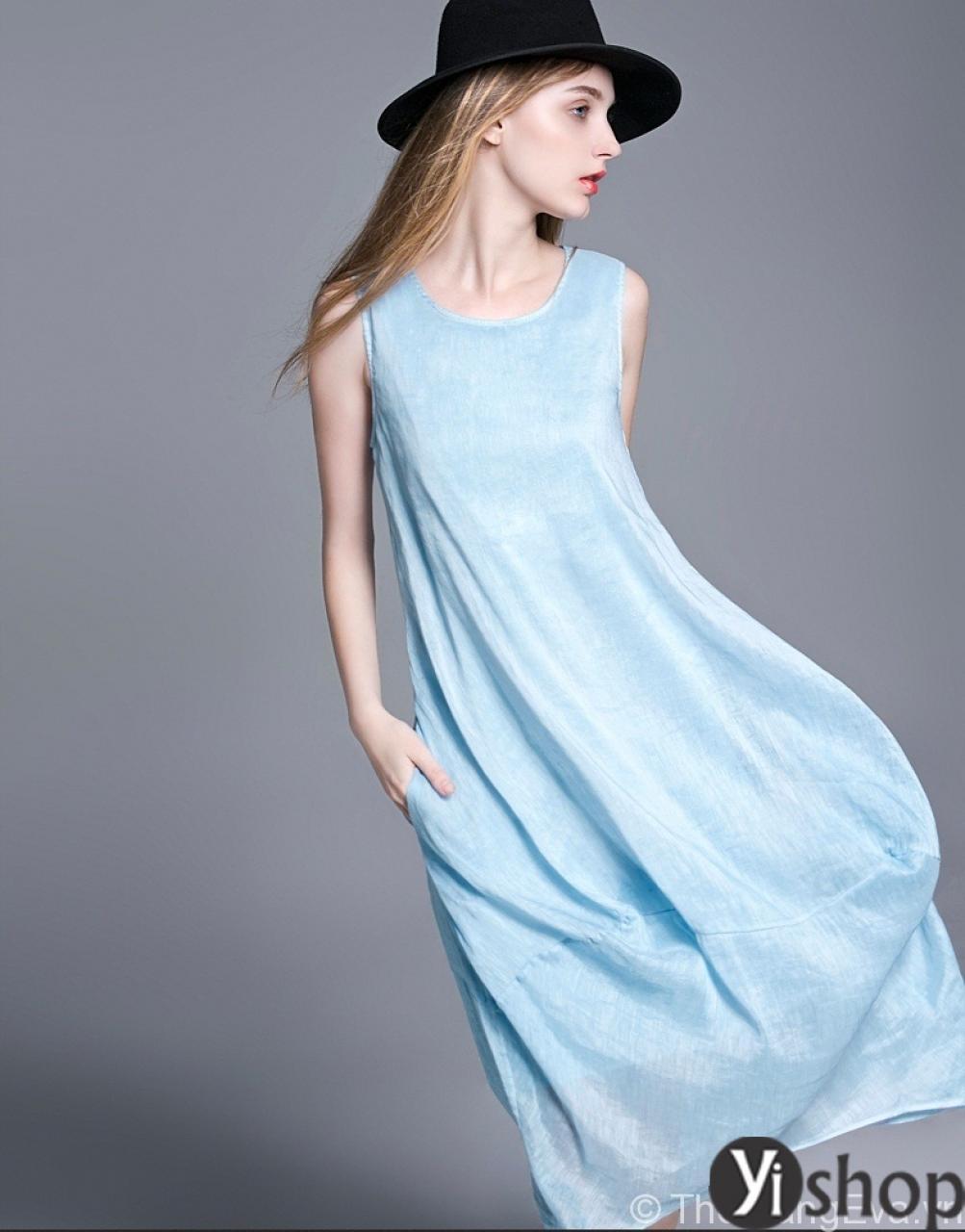 Váy đầm liền không tay đẹp thời trang hè duyên dáng quyến rũ