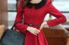 Đầm liền thân xòe cổ sen đẹp 2021 – 2022 rất hợp với cô nàng yêu phong cách cổ điển
