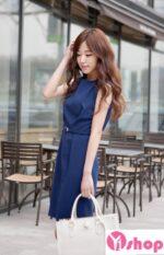 Váy đầm màu xanh công sở đẹp hè 2021 – 2022 tôn dáng chuẩn hoàn hảo