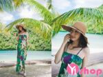 Váy đầm maxi họa tiết đẹp xinh xắn dạo biển hè 2021 – 2022
