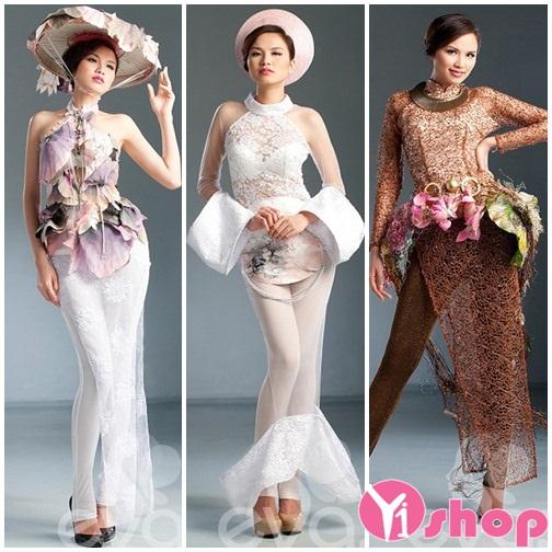 Váy đầm ren đẹp hè 2021 - 2022 sang trọng của hoa hậu Diễm Hương