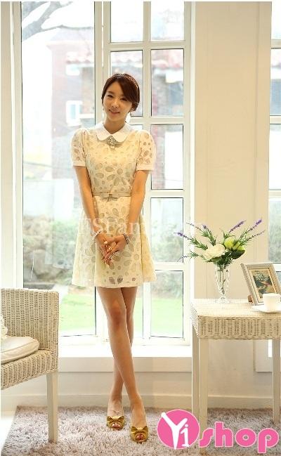 Váy đầm ren đẹp phong cách Hàn Quốc dịu dàng hè 2021 - 2022