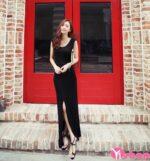 Váy đầm xẻ tà dài đẹp hè 2021 – 2022 tôn chân thon quyến rũ