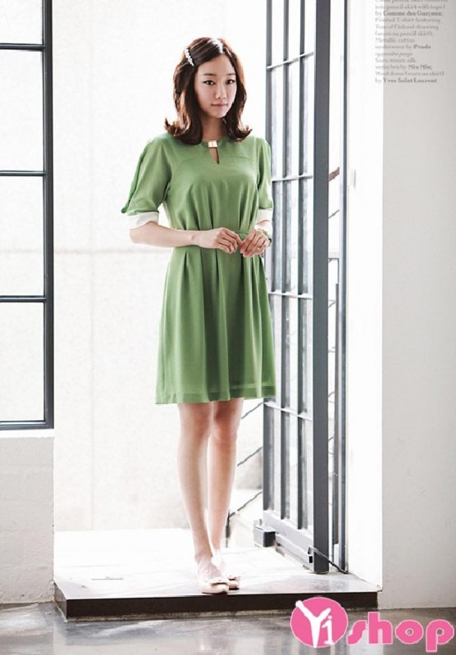 Váy đầm xếp ly liền thân đẹp thời trang dạo phố đón hè 2021 - 2022