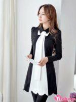 Váy đầm xòe cổ sơ mi đẹp hè 2021 – 2022 kiểu Hàn Quốc nhẹ nhàng