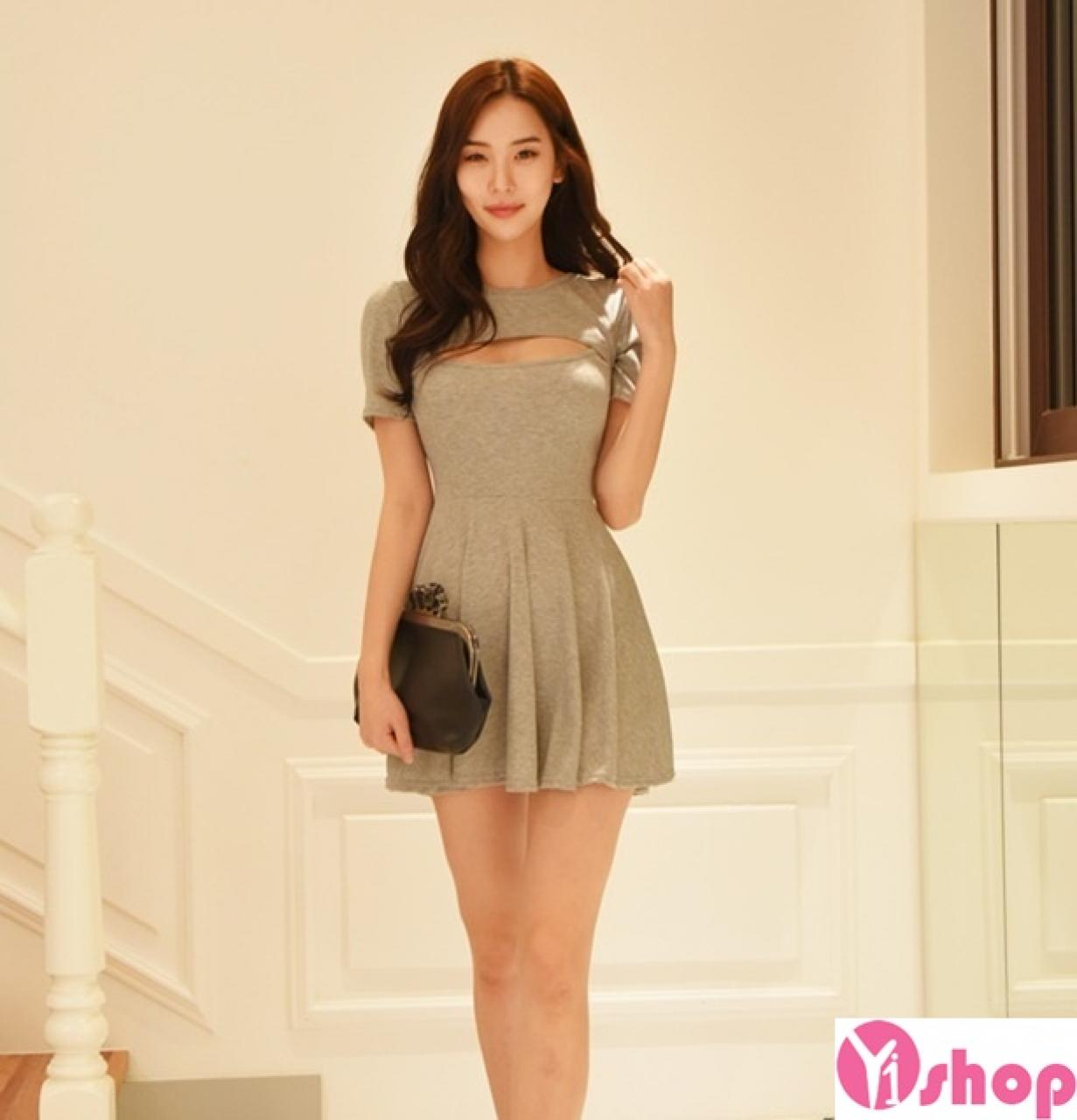Váy đầm xòe Hàn Quốc đẹp hè 2021 - 2022 cho nàng nhỏ nhắn dễ thương