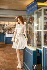 Váy liền hàn quốc đẹp hè 2021 – 2022