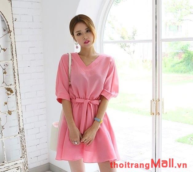 Thời trang đầm thắt eo đẹp kiểu hàn quốc hot nhất mùa xuân hè 2019 phần 1