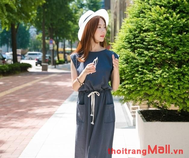 Thời trang đầm thắt eo đẹp kiểu hàn quốc hot nhất mùa xuân hè 2019 phần 3