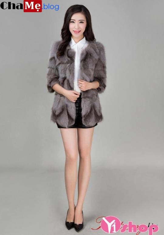 Vô vàn áo khoác lông nữ hàn quốc đẹp cực kì tiện dụng cho nàng đông 2021 - 2022