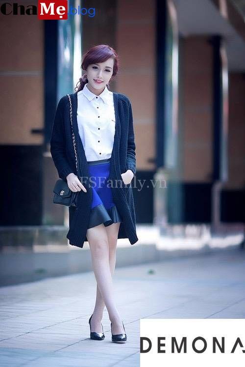 Xao xuyến với áo khoác cardigan nữ dáng dài đẹp dạo phố thu đông 2021 - 2022