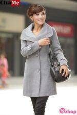 Xao xuyến với áo khoác dạ nữ sài gòn tphcm cổ sen đẹp không lạnh thu đông 2021 – 2022