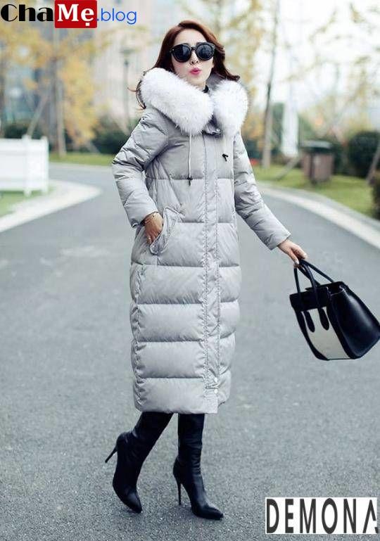 Xao xuyến với áo khoác phao nữ sài gòn tphcm cổ lông đẹp sang trọng ngày đông 2021 - 2022