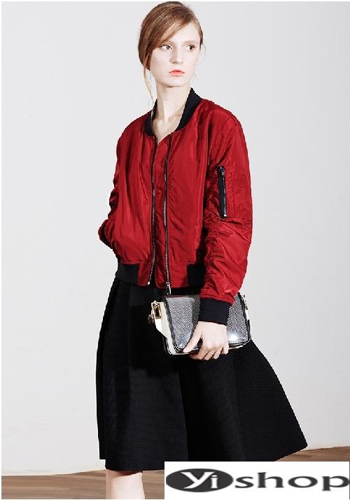 Xu hướng áo khoác nữ bomber jacket đẹp không thể chất hơn đông 2021 - 2022 phần 12