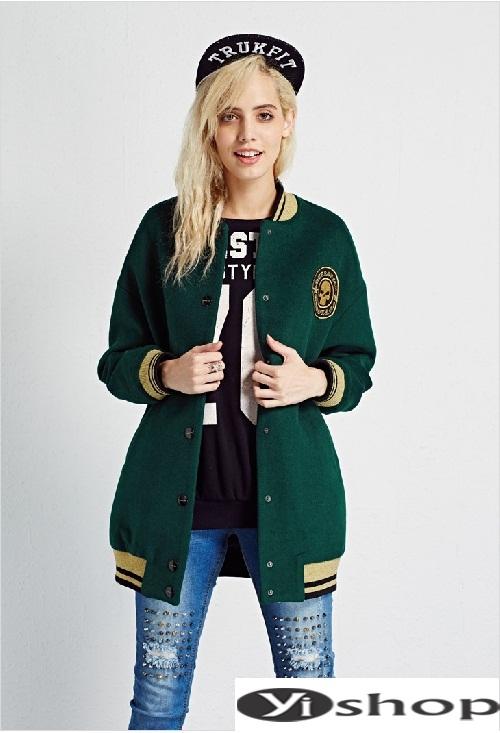 Xu hướng áo khoác nữ bomber jacket đẹp không thể chất hơn đông 2021 - 2022 phần 8