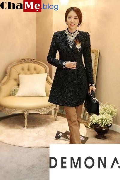 Xu hướng áo khoác nữ không cổ đẹp chiếm lĩnh thị trường thu đông 2021 - 2022
