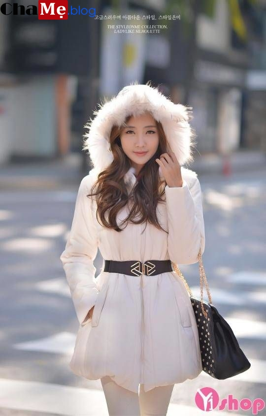 Xuống phố thu đông 2021 - 2022 cùng áo khoác phao nữ sài gòn tphcm thắt lưng đẹp ngất ngây