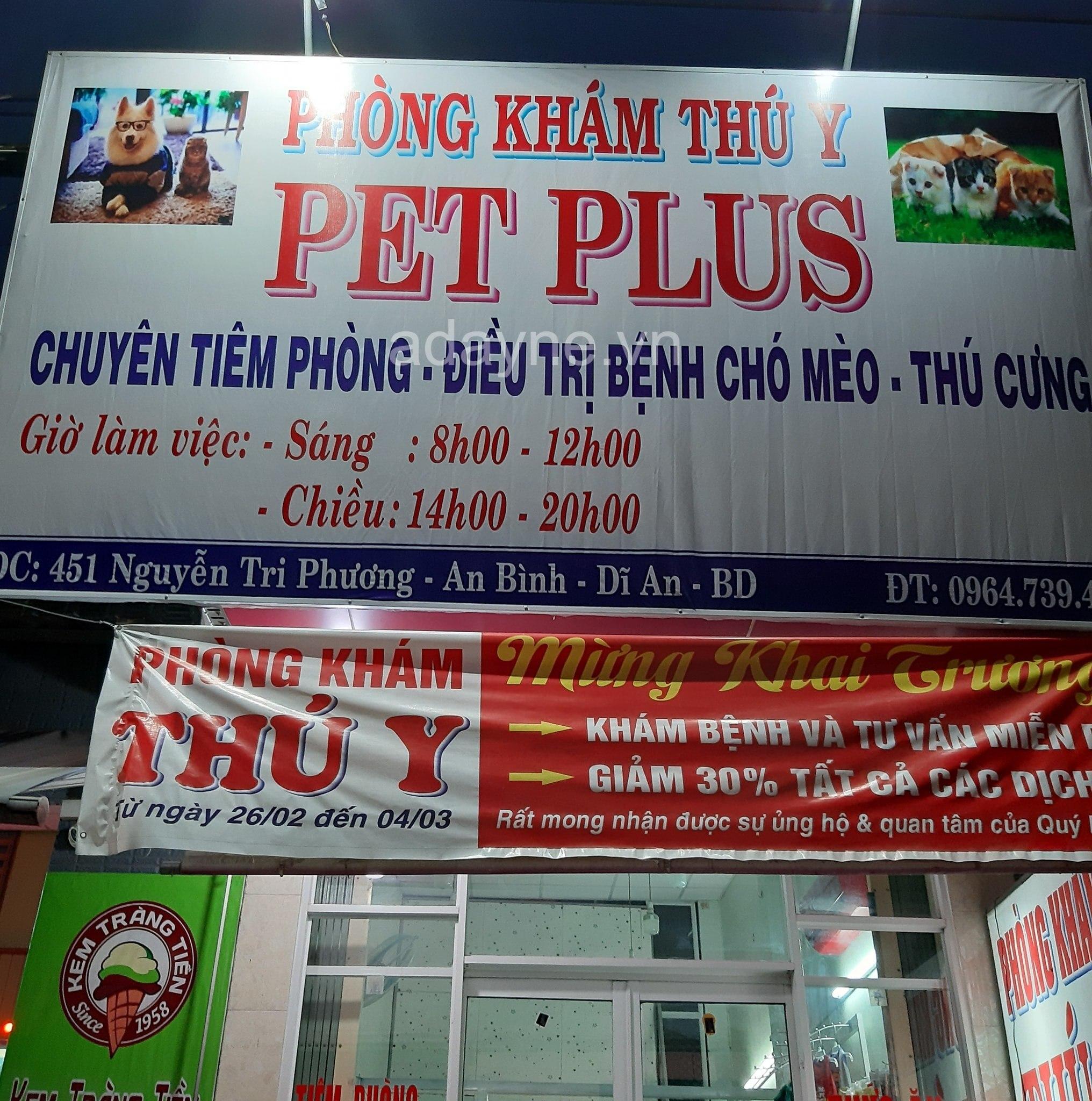 phòng khám thú y Pet Plus, Dĩ An