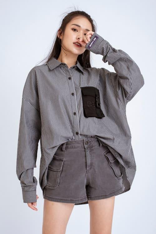 mẫu áo sơ mi cho người béo bụng