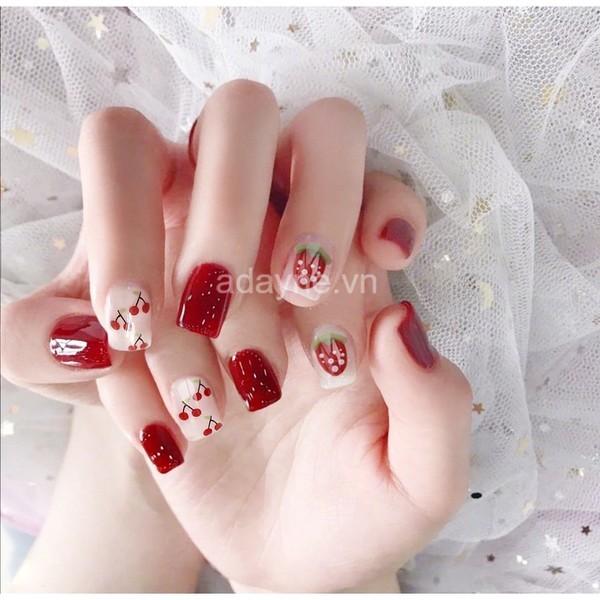 nail đỏ đẹp ngày cưới