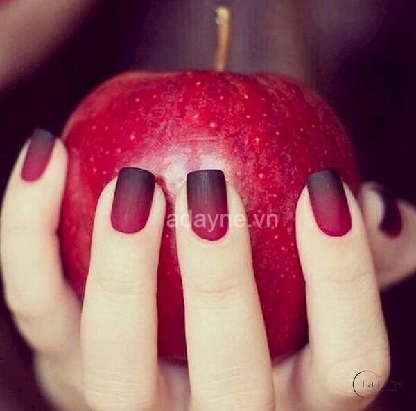 nail đẹp màu đỏ nhám