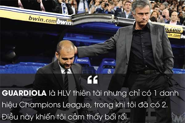 Guardiola là HLV thiên tài những chỉ có 1 danh hiệu Champions league, trong khi tôi đã có 2. Điều này khiến tôi cảm thấy bối rối.