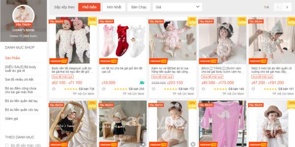 Cookie's home + shop đồ sơ sinh cho bé tại Hồ Chí Minh