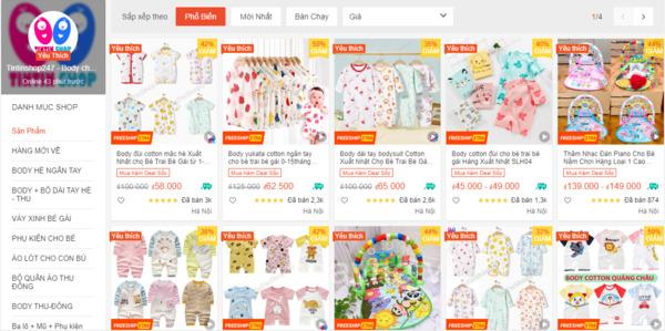Tintinshop247 + shop đồ sơ sinh cho bé tại Hà Nội
