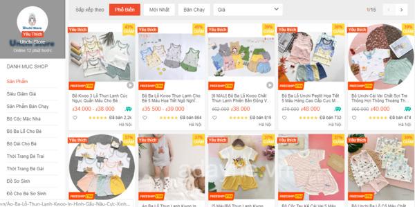 Unchi store + shop đồ sơ sinh cho bé tại Hà Nội