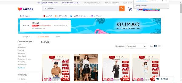 GUMAC -Shop thời trang uy tín trên Lazada