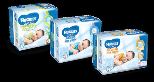 Các sản phẩm tã cho bé đến từ thương hiệu Huggies luôn tạo sự thoải mái, êm ái và khô thoáng cho trẻ
