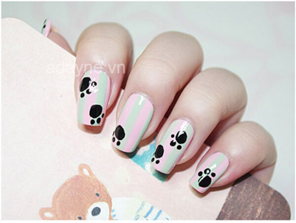 """Mẫu nail thú cưng đơn giản được đặc biệt thiết kế cho những cô """"sen"""" siêu cuồng """"boss"""""""