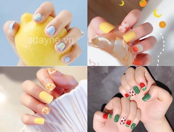 Chào đón mùa hè sôi động với các mẫu nail đơn giản dễ thương lấy cảm hứng từ trái cây
