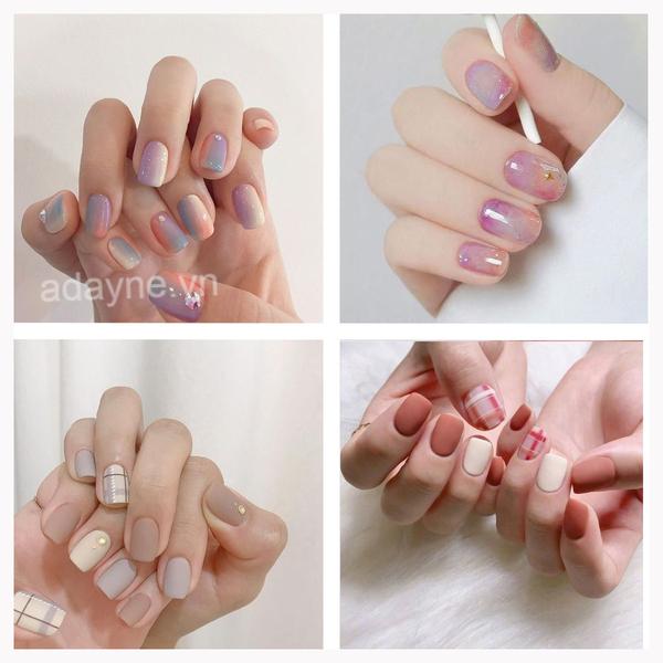 Đơn giản mẫu nail đẹp