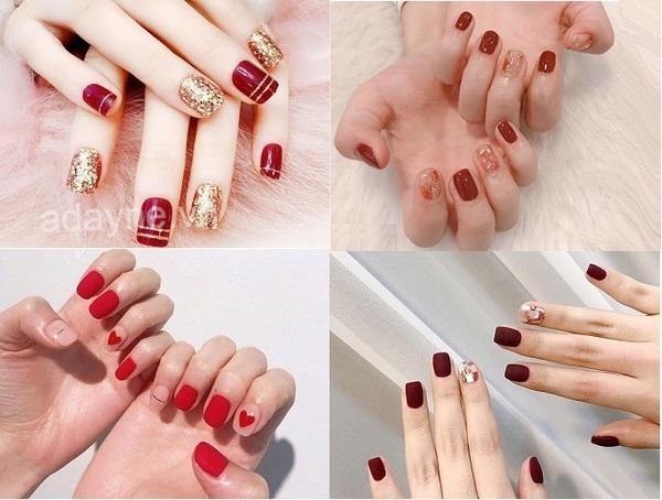 Mẫu móng tay màu đỏ - đơn giản mẫu nail đẹp không bao giờ lỗi mốt