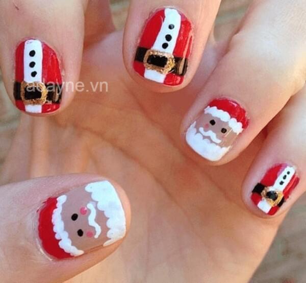 """Cô nàng móng ngắn cũng có thể tự tin diện mẫu nail Ông già Noel """"cưng xỉu"""" này"""