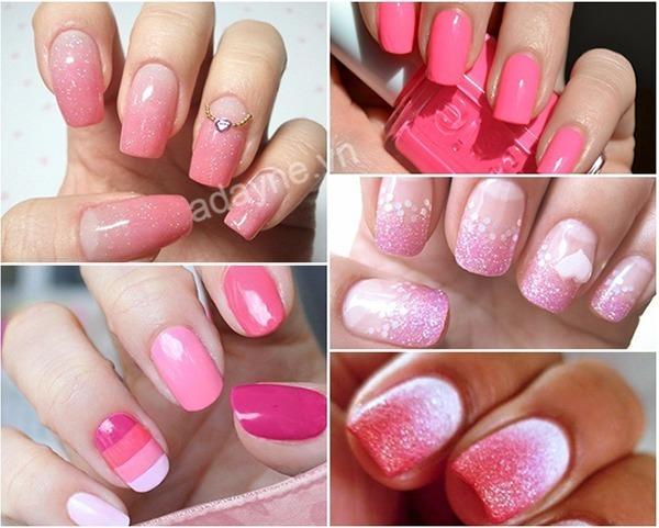 Top mẫu móng tay đẹp nhẹ nhàng màu hồng kiểu ombre tinh tế, cho nhan sắc nàng thêm phần thăng hạng