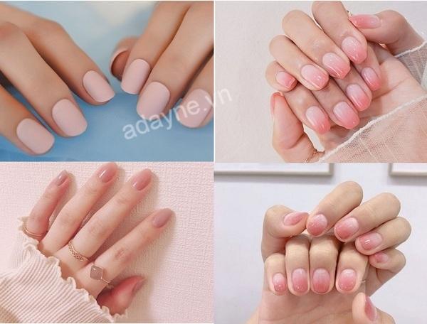 Những mẫu nail đơn giản màu hồng đẹp ngọt ngào, không sến súa