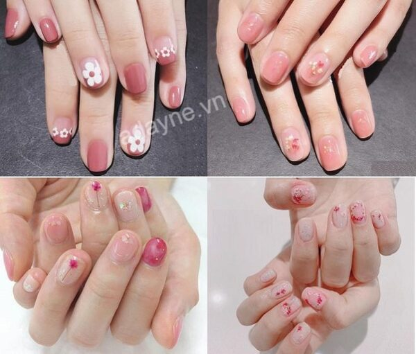 Mẫu móng tay đẹp nhẹ nhàng màu hồng phù hợp với nhiều loại da, trang phục hay độ tuổi
